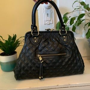 FAUX Marc Jacobs Quilted Stam Bag black leather